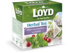 Чай в пирамидках Loyd мята/клюква травы 2 г х 20 шт (26.079)