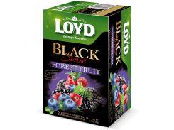 Чай в пакетиках Loyd Black Sense Forest Fruit Лесные ягоды 1.7 г х 20 шт (26.111)