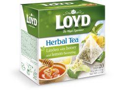 Чай в пирамидках Loy липа, лимон и мед 1.5 г х 20 шт (26.080)