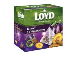 Чай в пакетиках пирамидках Loyd Plum and Cinnamon слива и корица 2 г х 20 шт (26.109)