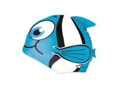 Шапочка для плавания Spokey Rybka для детей Onesize Голубая (s0110)