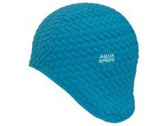 Шапочка для плавания Aqua Speed Bombastic Tic-Tac Бирюзовая (aqs211)