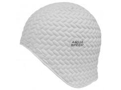 Шапочка для плавания Aqua Speed Bombastic Tic-Tac Белая (aqs213)