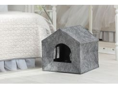 Домик для животных Digitalwool Теремок без подушки 40 х 40 х 40 см Серый (DW-92-10)