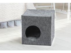 Домик для животных без подушки Digitalwool Куб 40 x 40 x 40 см Серый (DW-92-05)