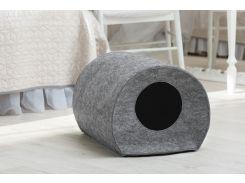 Домик для животных без подушки Digitalwool Бочка 33 х 50 х 38 см Серый (DW-92-12)