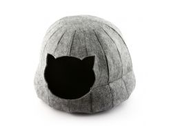 Домик для кошки Полусфера с подушкой Digitalwool 28 х 25 см Серый (DW-91-22)
