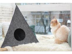 Домик для животных Digitalwool Пирамида без подушки 56 x 60 x 66 см Серый (DW-92-15)