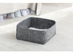 Домик для животных с подушкой Digitalwool Корзина на кнопках 20 х 40 х 40 см Серый (DW-92-06)