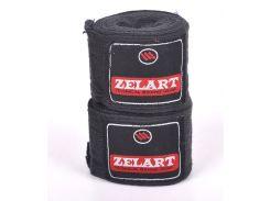 Бинты боксерские (2шт) Х-б ZEL ZB-3620-3(BK) (l-3м, черный)
