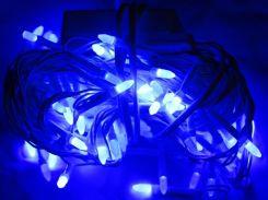 Новогодняя светодиодная гирлянда B-3 синяя 200Led