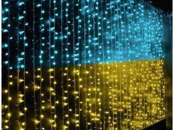 """Светодиодная гирлянда""""Флаг Украины"""" 230 лед"""