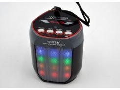 Портативная колонка WSTER WS-Y92B с подсветкой
