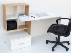 Компьютерный стол ВМВ Холдинг HO1S дуб каменный, белый