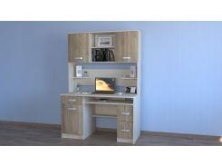 Компьютерный стол Макс - 2 сонома трюфель Летро