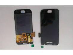Дисплей для Samsung i9000/i9001 с чёрным тачскрином