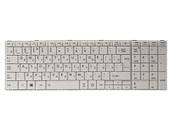Клавиатура для ноутбука TOSHIBA Satellite C850, C870 белый, белый фрейм