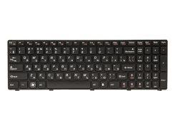 Клавиатура для ноутбука IBM/LENOVO G580, N580 черный, черный фрейм