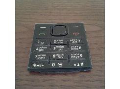 Клавиатура (кнопки) для Nokia X2-00, черная, русская