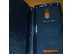 Чехол для Xiaomi Redmi Note 3 Книжка Goospery Fancy черная