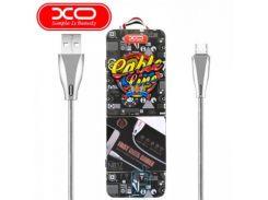 USB кабель XO NB17 micro USB 1m серебристый