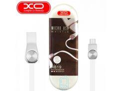 USB кабель XO NB19 micro USB 0.2m белый
