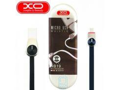 USB кабель XO NB19 micro USB 0.2m черный