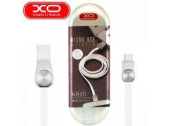 USB кабель XO NB20 micro USB 1m белый