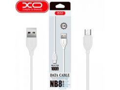 USB кабель XO NB8 micro USB 1m белый