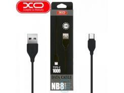 USB кабель XO NB8 Type-C 1m черный