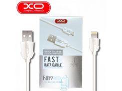 USB кабель XO NB9 lightning 1m белый