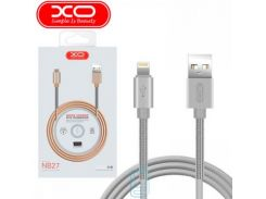 Кабель USB - Lightning XO NB27 1m серый