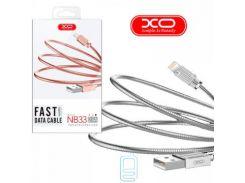 Кабель USB - Lightning XO NB33 1m серебристый