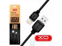 Кабель USB - Lightning XO NB36 1m черный