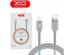Кабель USB - Micro XO NB27 1m серый