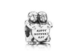 """Шарм бусина Pandora (Пандора) """"Happy mothers day"""""""