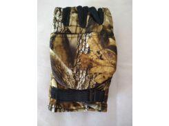 Перчатки-варежки флисовые для рыбалки и охоты мембрана