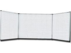 Доска магнитно-маркерная в клетку (5х5), 100 на 300 см, 5 элементов