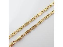 Цепочка плетение Улитка плоская 60 см. ширина 3 мм