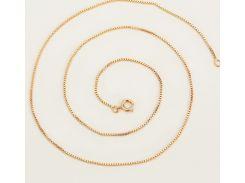 Цепочка плетение Черепашка 50 см. ширина 1 мм позолота 18К