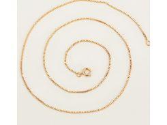 Цепочка плетение Черепашка 45 см. ширина 1 мм позолота 18К