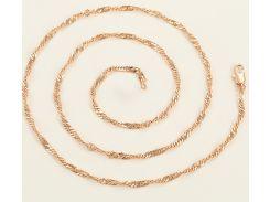Цепочка плетение Сингапур 60 см. ширина 3 мм под советское золото