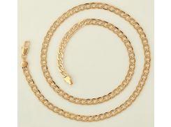 Цепочка плетение Панцирное рифление 59 см. ширина 6 мм