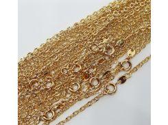 Цепочка плетение Фигаро 45 см. ширина 2 мм