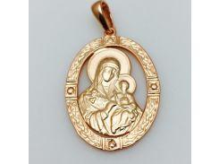 Ладанка Божья матерь с младенцем овальная, ювелирная бижутерия