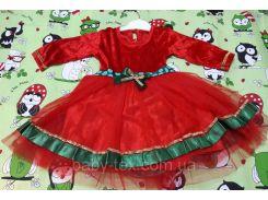 Платье Рождество 1 на 1-3 года Турция