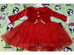 Платье Рождество 2 на 1- 3 годика Турция