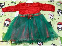Платье Рождество 3 на 1-3 годика Турция