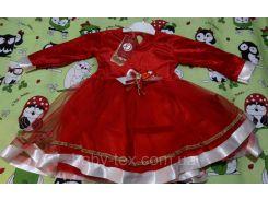 Платье Рождество 5 на 1-3 годика Турция