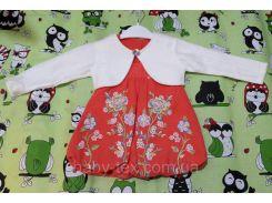 Платье Флис с болеро 2-4 годика Турция
